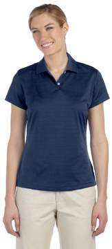 adidas A162 Ladies ClimaLite Textured Polo - Navy, Small