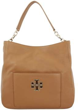 Tory Burch Britten Pebbled Leather Hobo Bark 29873209 - ONE COLOR - STYLE