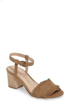 Sole Society Women's Sepia Fringe Sandal