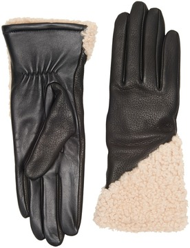 UGG Asymmetrical Smart Curly Sheepskin Gloves Extreme Cold Weather Gloves