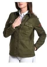 Sun 68 Women's Green Cotton Outerwear Jacket.