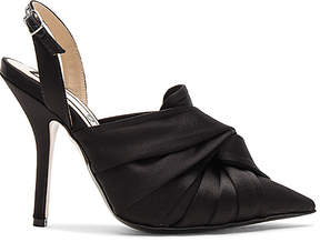 No.21 No. 21 Satin Ankle Strap Bow Heel