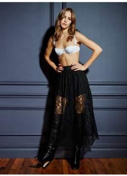 Fleur Du Mal | Lace Skirt | M | Black