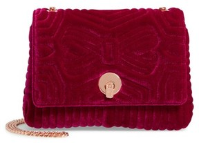 Ted Baker Quilted Velvet Crossbody Bag - Purple