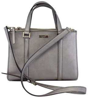 Kate Spade Pewter Leather Convertible Bag - SILVER - STYLE