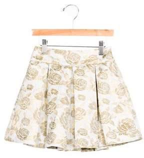 Rachel Riley Girls' Brocade Pleated Skirt