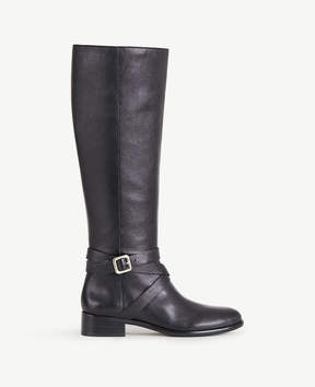 Ann Taylor Amy Leather Buckle Boots