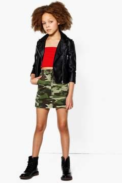 boohoo Girls Camo Skirt
