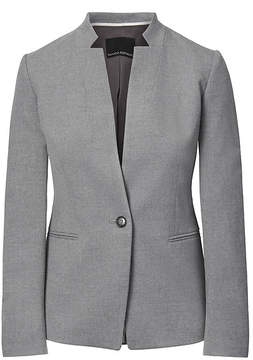 Banana Republic Long and Lean-Fit Inverted Collar Luxe Brushed Twill Blazer