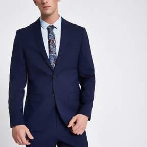 River Island Mens Navy slim fit suit jacket
