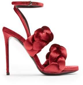 Marco De Vincenzo Plaited velvet sandals