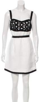Andrew Gn Eyelet-Accented Colorblock Dress