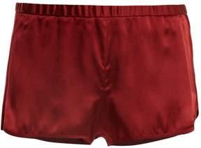 Araks Jada silk-satin shorts