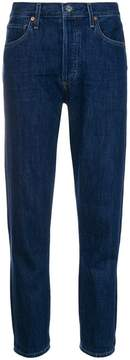 Citizens of Humanity high rise raw hem skinny jeans