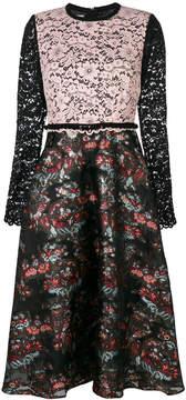 Antonio Marras floral lace panel dress
