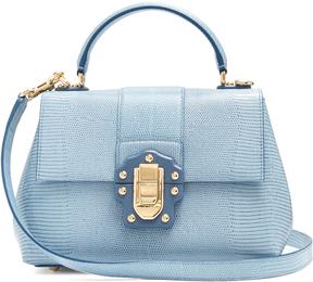 DOLCE & GABBANA Lucia small iguana-effect leather bag