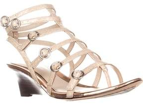 Elie Tahari Gladiator Wedge Sandals, Macrame/rose.