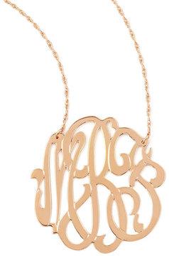 Jennifer Zeuner Jewelry Rose Gold Initial Necklace