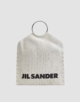 Jil Sander Large Leather Net Bag