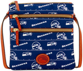 Dooney & Bourke Seattle Seahawks Nylon Triple Zip Crossbody - BLUE - STYLE