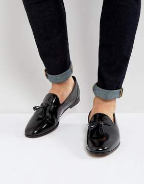 Frank Wright Tassel Loafers In Black Patent