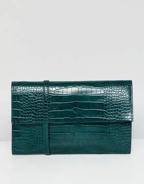 French Connection Mock Croc Shoulder Bag