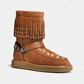 Coach New YorkCoach Roccasin Shearling Boot With Beads