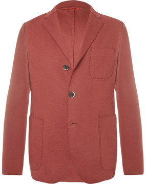 Barena Unstructured Cotton-Blend Jersey Blazer