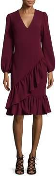 Alexia Admor Women's Ruffled V-Neck Cocktail Dress