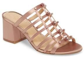 Badgley Mischka Thorne Crystal Rose Embellished Slide Sandal