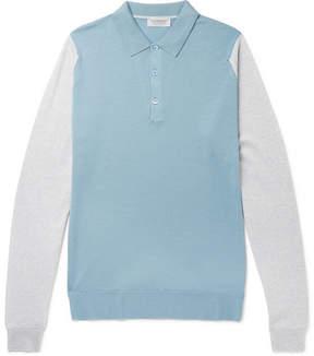 John Smedley Hindlow Two-Tone Merino Wool Sweater