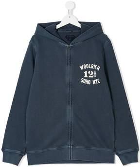 Woolrich Kids TEEN logo print hoodie