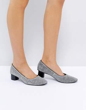MANGO Mid Heeled Ballet Shoe