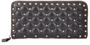 Valentino Rockstud Spike leather wallet