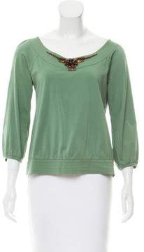 Cacharel Embellished Long Sleeve Top