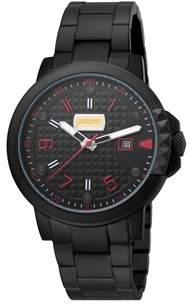 Just Cavalli Men's Rock Rock Quartz Black Stainless Steel Bracelet Watch.