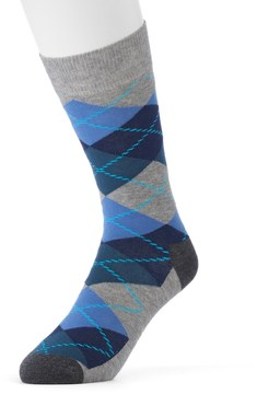 HS by Happy Socks Men's Patterned Crew Socks