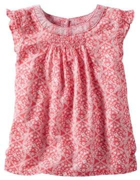 Carter's OshKosh B'gosh Little Girls Floral Flutter-Sleeve Top Red 3T