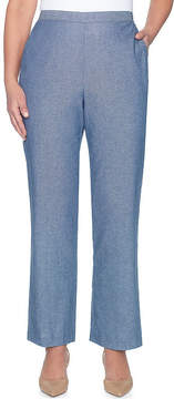 Alfred Dunner Blues Traveler Woven Flat Front Pants