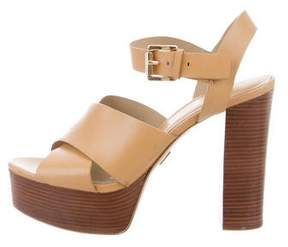 Michael Kors Leather Platform Sandals