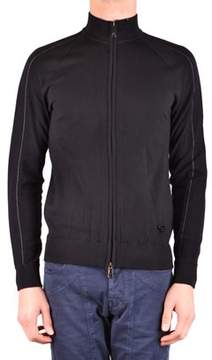 Armani Jeans Men's Black Viscose Sweatshirt.