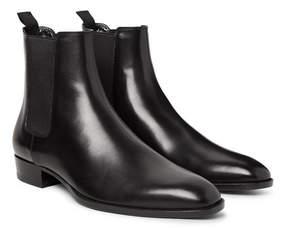 Saint Laurent Polished-Leather Chelsea Boots