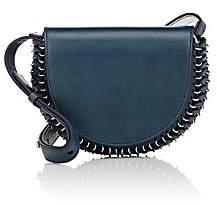 Paco Rabanne Women's 14#02 Half Moon Leather Mini Crossbody Bag - Navy
