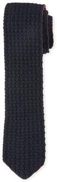 Ermenegildo Zegna Cashmere Knit Tie, Red