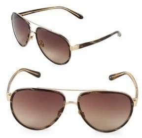 Linda Farrow 61MM Aviator Sunglasses