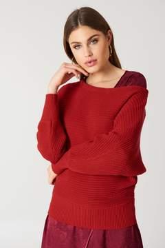 NA-KD Na Kd Off Shoulder Knitted Sweater