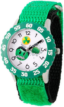 Marvel Emoji Boys Green Strap Watch-Wma000086