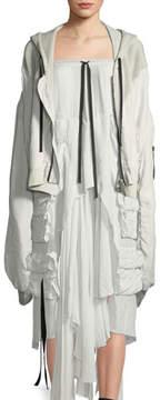 Unravel Long-Sleeve Hybrid Silk Mesh Sweatshirt Hoodie