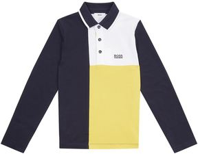 HUGO BOSS Colour Blocked Polo Shirt