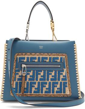 Fendi Runaway small snakeskin-trimmed leather bag